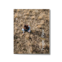 "annual report cover image showing title ""People and Place"" and a woman crouching down to check the ranchland soil"