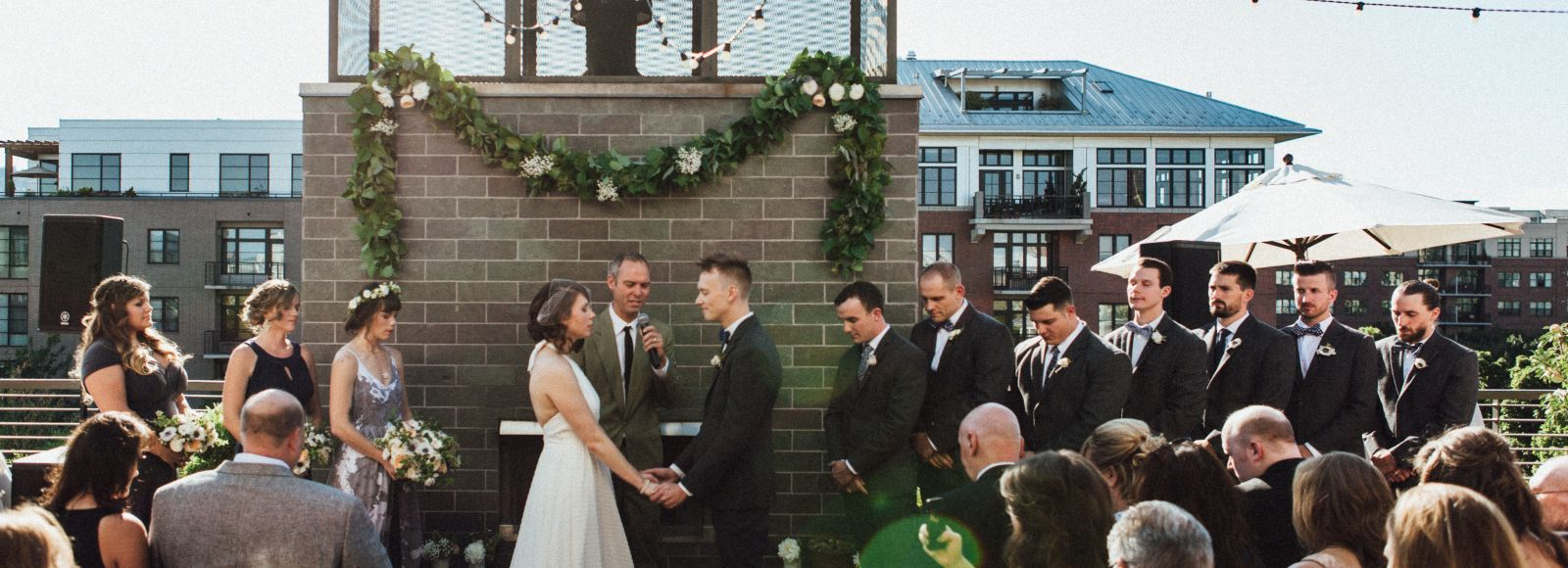 ceremony on terrace