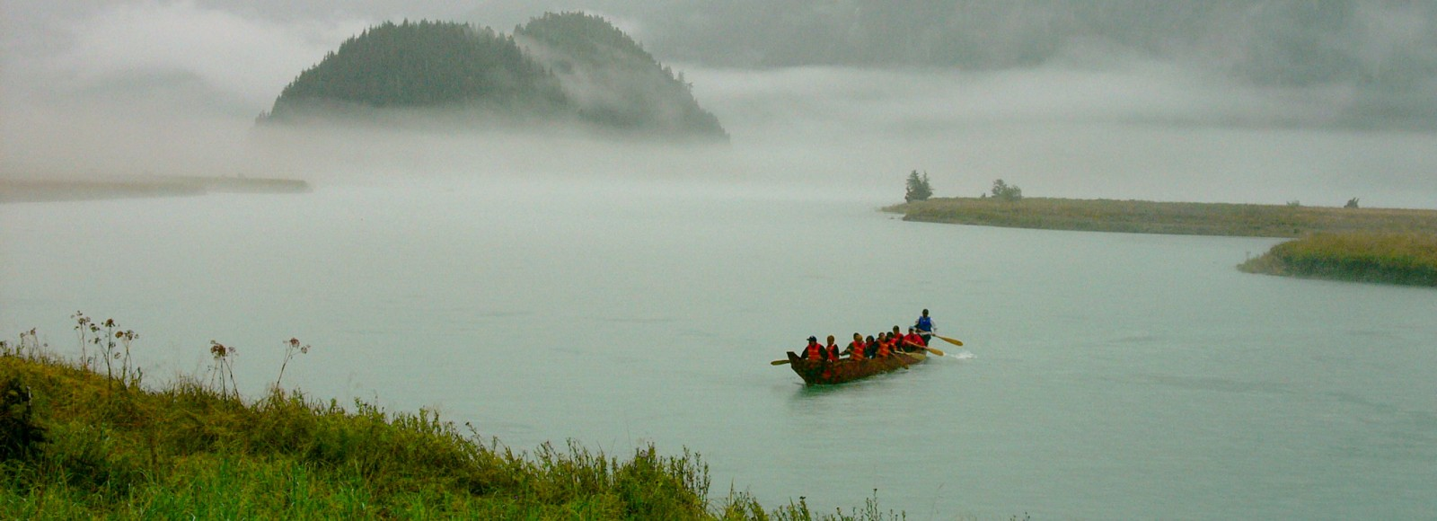 Canoe in the Kitlope in British Columbia