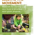 report cover picturing a preschool boy planting kale starts with assistance from a teacher