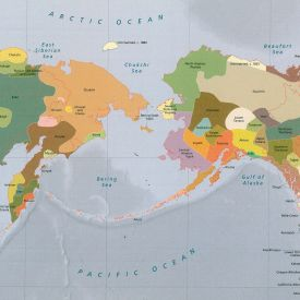 map of the pacific northwest that shows the distribution of native peoples in1880. brightly colored