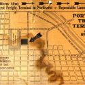 old flyer advertising the Portland truck terminal, ephemera