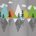 mountains and trees icon