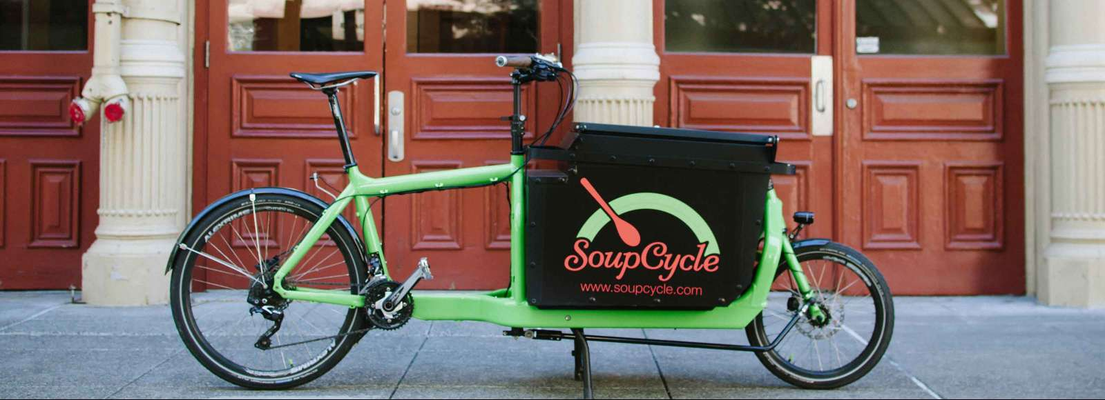 Delivery bicycle that reads