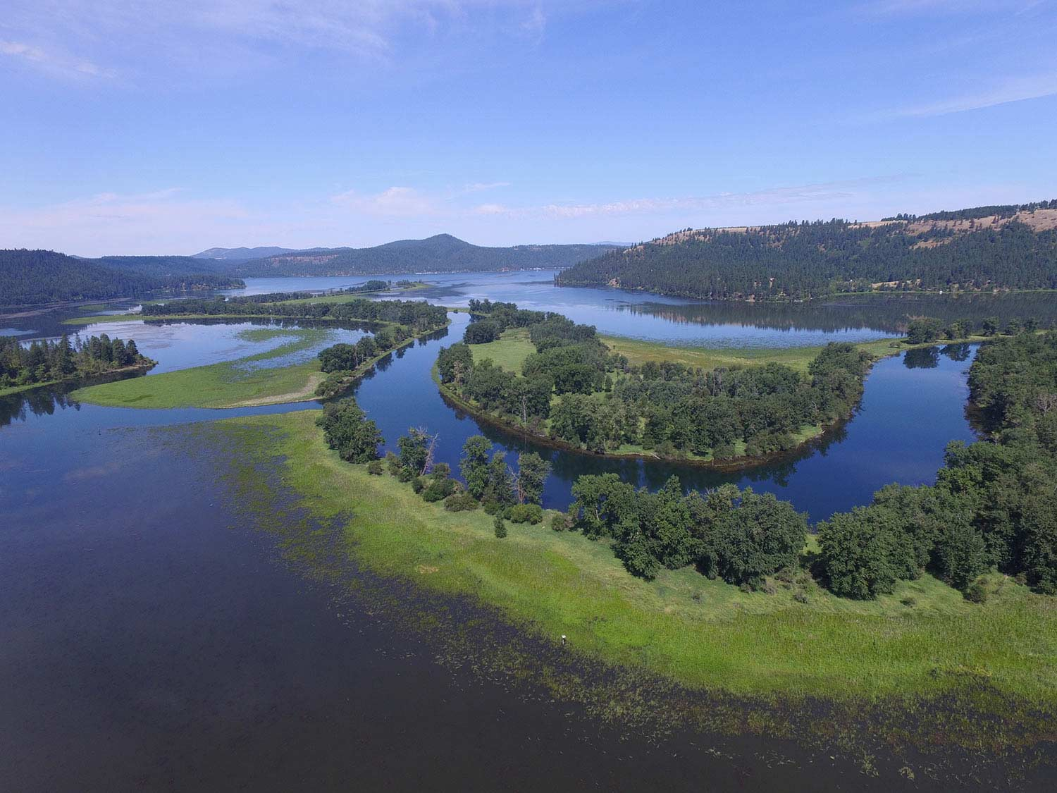 United by water film screening, photo of columbia river