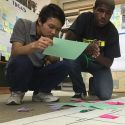 students pair up to work on exercise