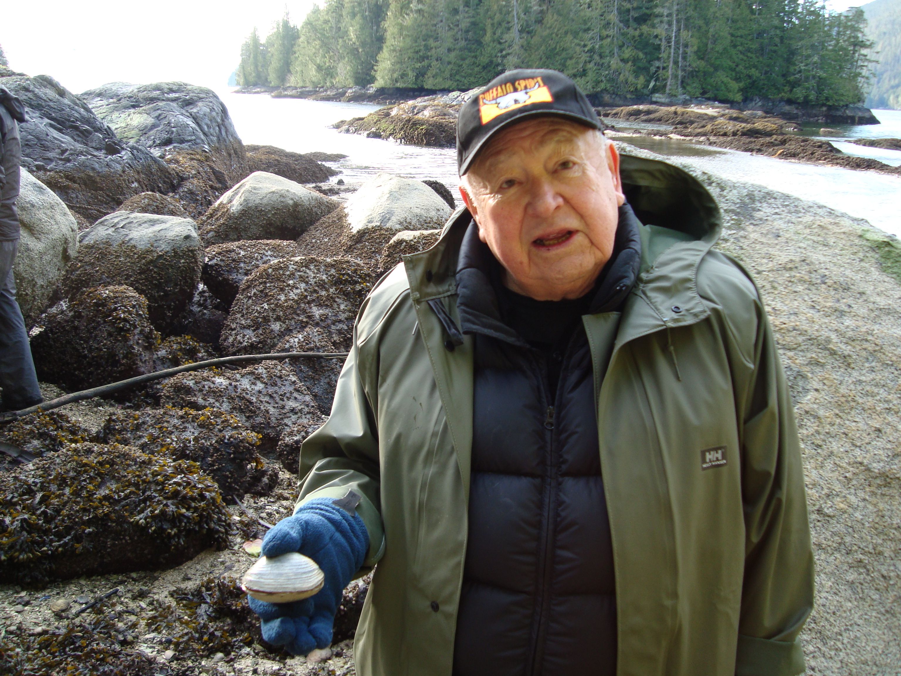 Kwaxsistalla in the clam gardens. Photo by Nancy Turner.
