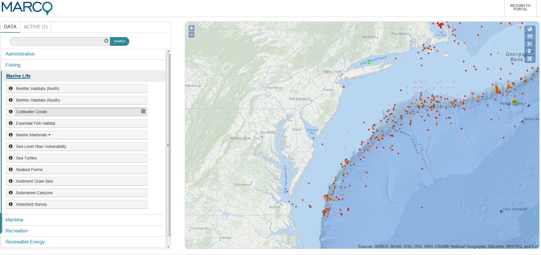 The MARCO Portal and other data visualization tools are key piece of implementing the national ocean plan.