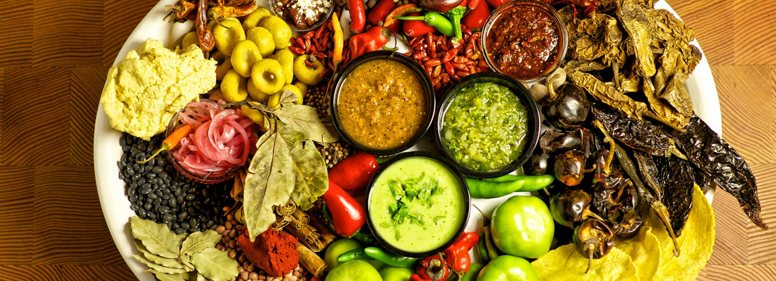 Colorful tray of food from Xico
