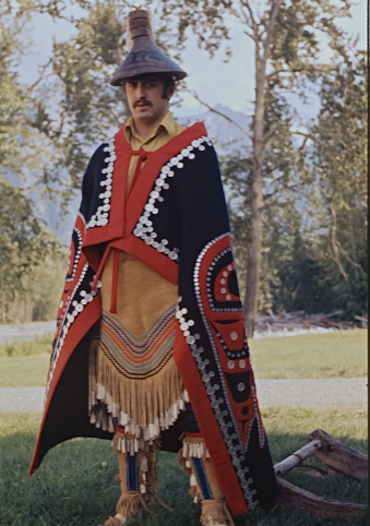 Man in traditional dress.