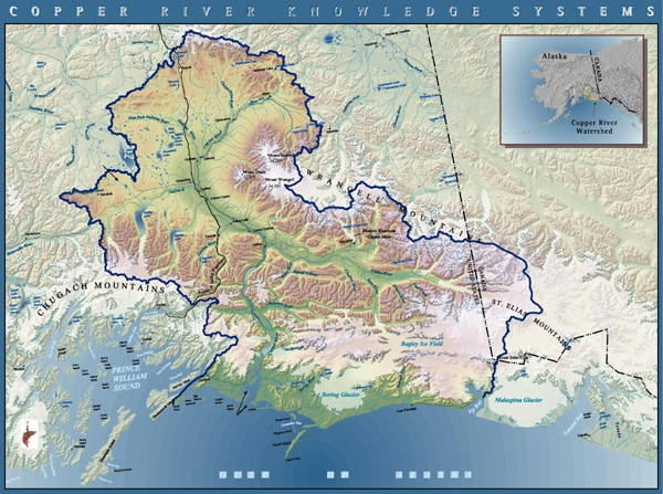 2005—Copper River, Alaska:This continued our efforts to chart important watersheds and assess the work needed to protect and restore their health. Ecotrust built a living catalog of Copper River knowledge and helped establish Alaska's first inter-tribal conservation district to co-manage the river.