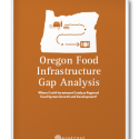 burnt orange cover with white illustration of state of Oregon with an arrow going from a farm to a plate of food