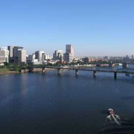Portland viewed across the Willamette River.